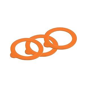 Kilner 0025.489 Replacement Rubber Seals, Orange