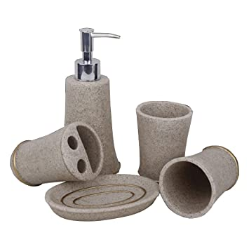 Nalkusxi Ensemble d\'accessoires de salle de bains en résine ...