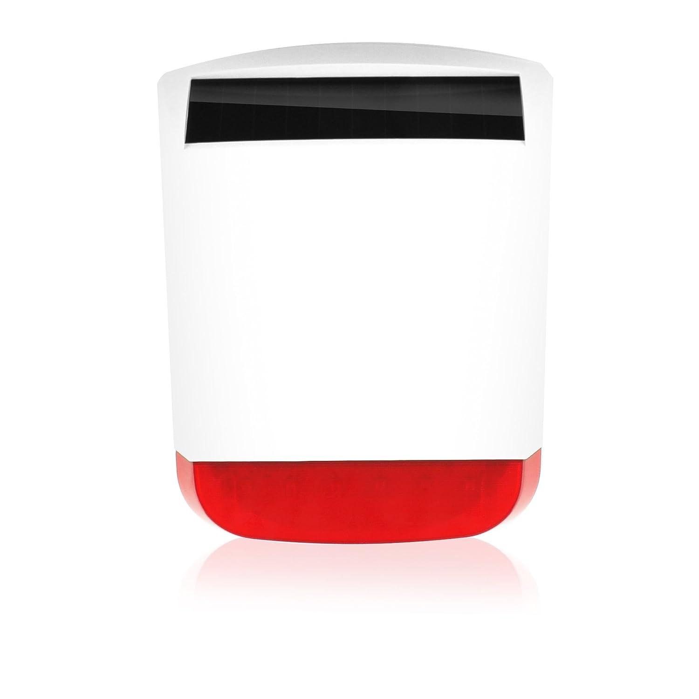 Eminent - Em8670 - siren (433mhz, wireless, 6,2 m, aa, litio, nero, rosso, bianco) allarme esterno sirena