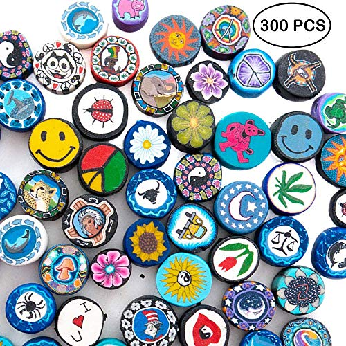 300 Pieces Fimo Disc Beads for Jewelry Making and 10 Meters Wax Cord - DIY Kit for Adults - Great for Necklaces, Bracelets - Premium Quality Jewelry Supplies