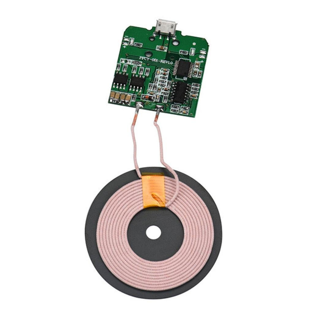 SUKEQ Universal Qi Wireless Charger PCBA Circuit Board Coil Wireless Charging Module DIY for Micro USB Cell Phone
