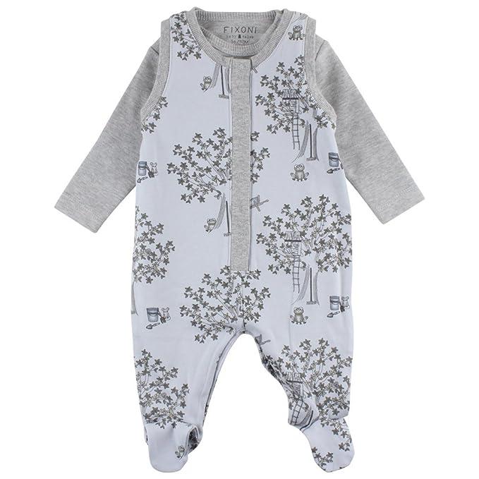 Fixoni Grow Suitset, Pelele Unisex bebé, Azul Soft Blue 03-43, 68