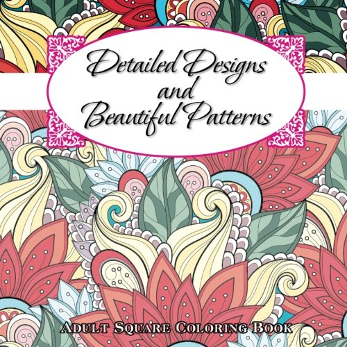 Detailed designs beautiful patterns adult coloring book Coloring books for adults on amazon