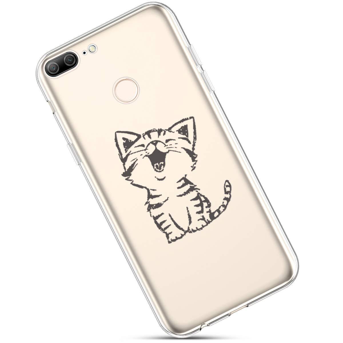 Felfy Etui Compatible avec Huawei Honor 9 Lite,Coque Huawei Honor 9 Lite Transparente Silicone Housse de Protection Ultra Mince en Caoutchouc Souple Coquille Anti Choc T/él/éphone Bumper Case,Fille