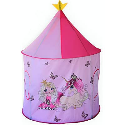 Play Tent for Kids, Pink Unicorns Pop-Up Castle Style Princess Playhouse for Indoor-Outdoor Inspiring Imaginations and Creativity, Dress Up Pretend Fun Toys for Toddlers Girl |Unicorn Gifts for Girls: Toys & Games [5Bkhe0802912]