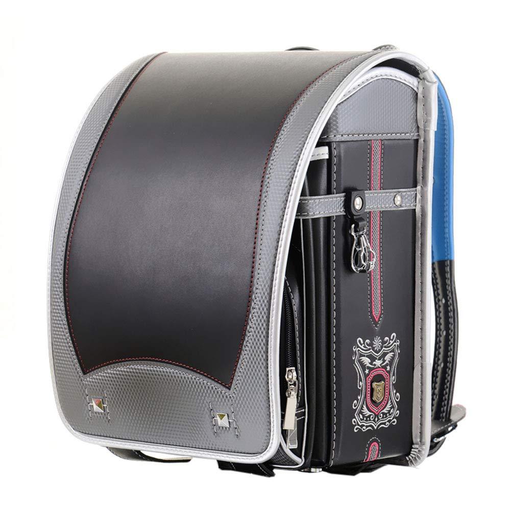 ランドセル お姫様シリーズ男の子 女の子 大容量 リュクス 丈夫な手縫い ギフトパッケージ 6年間保証付  ブラック B07NS4WWDW