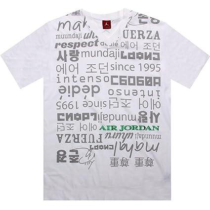 4f36f18d48fbcf Amazon.com   Nike men air Jordan V-neck respect Tee shirt (size  3XL)    Sports   Outdoors