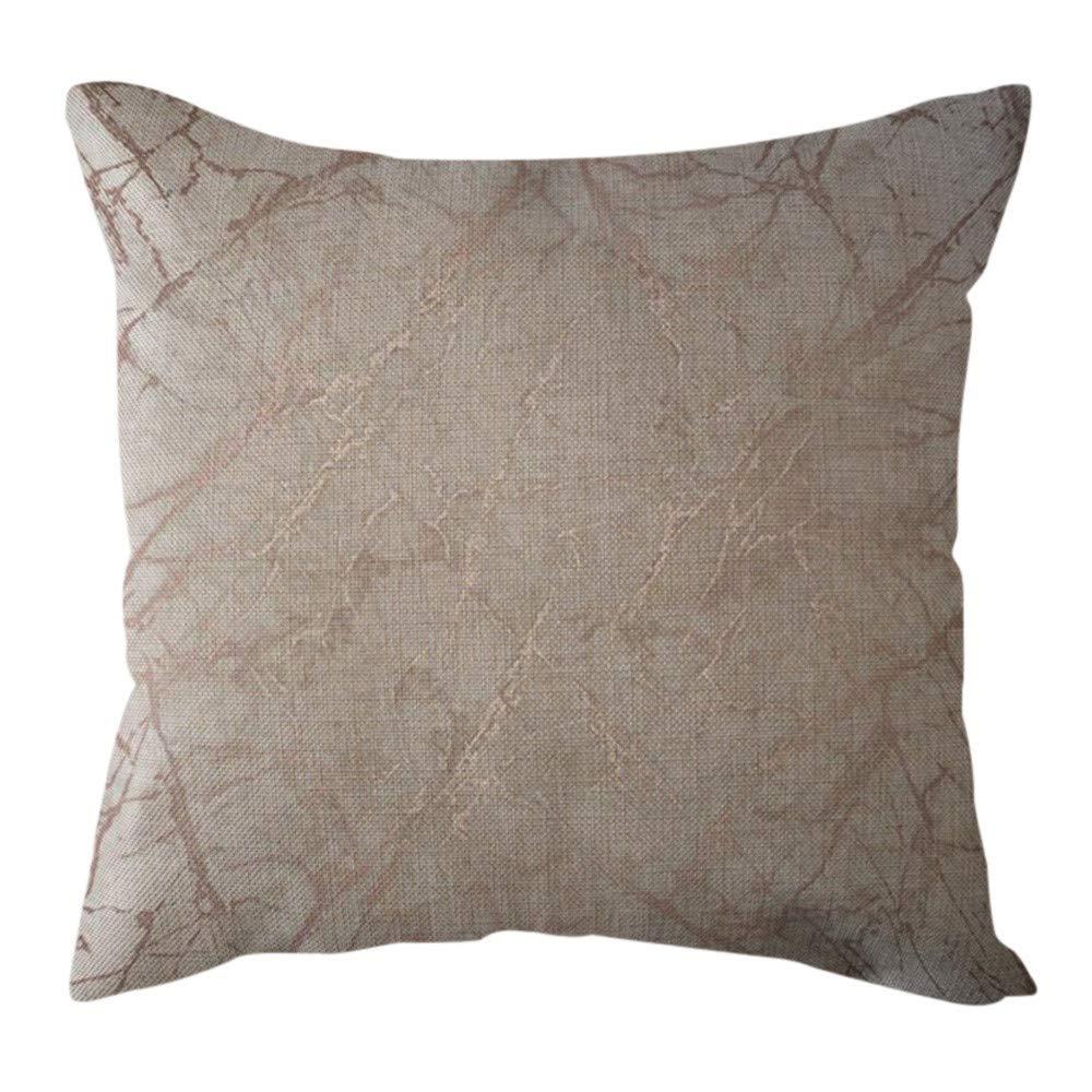 Pgojuni Cotton Linen Butterfly Home Decorative Throw Pillow Case Waist Cushion Throw Pillow Case Sofa/Couch 1pc 45X45 cm (I)