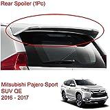 Powerwarauto Rear Roof Spoiler Tailgate for Mitsubishi Pajero Montero Sport SUV Medium Silver Medium Silver