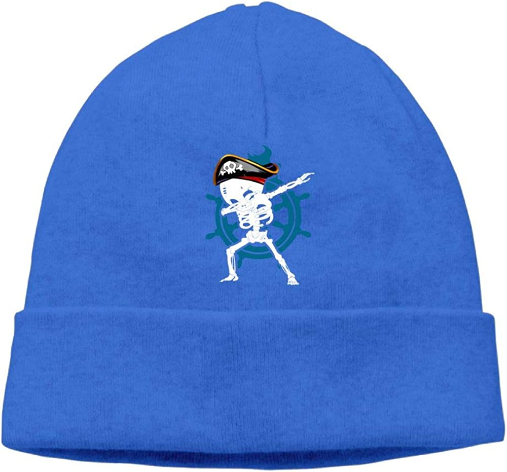 Oopp Jfhg Dabbing Skeleton Pirate Beanie Knit Hat Ski Cap Men RoyalBlue