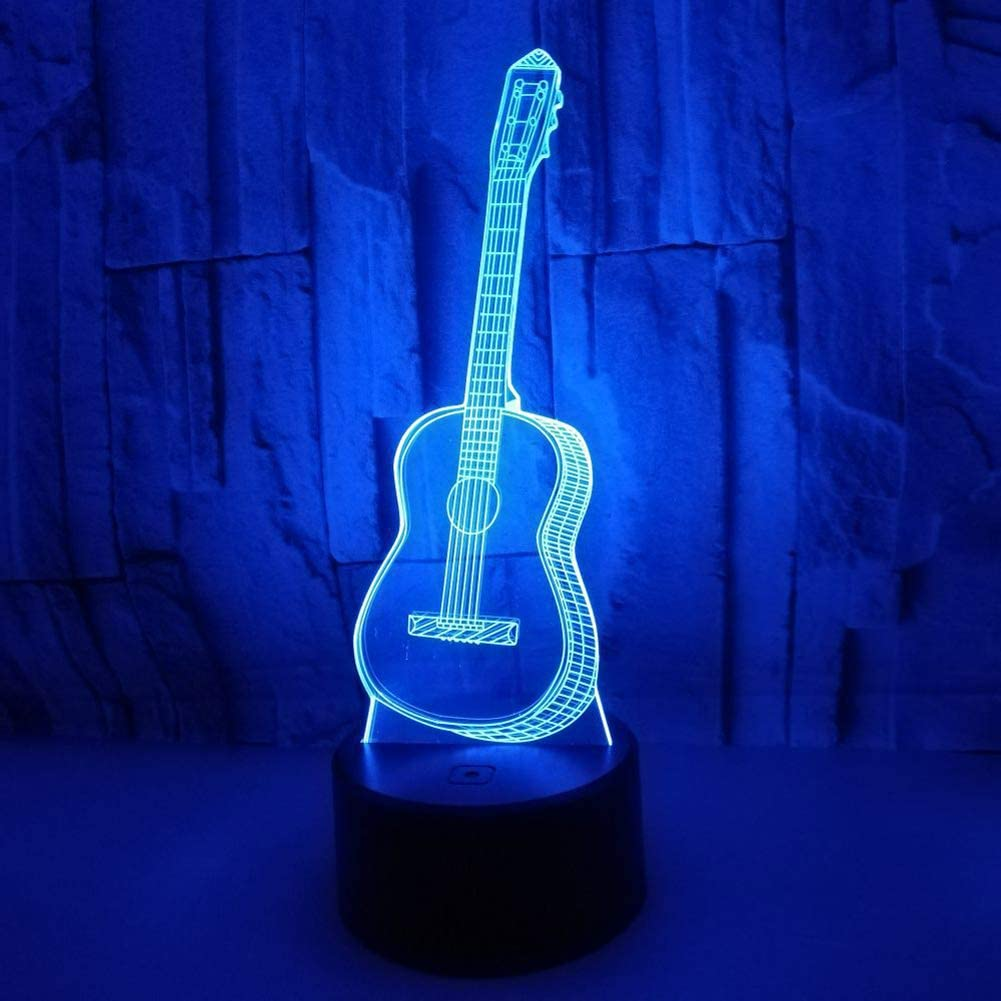 3D Lámpara LED Decoración Lámpara de Mesa Morbuy Guitarra ...