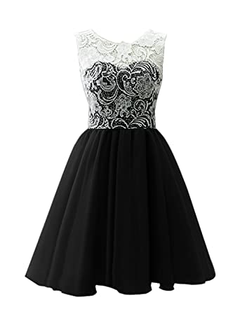 Dresstells® Short Tulle Prom Dress Bridesmaid Homecoming Gown with Lace