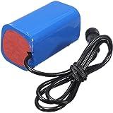 bateria de litio - TOOGOO(R)Paquete de Bateria Recargable 6000mAh 8.4v Bicicleta Linterna Frontal + Funda