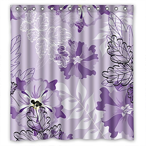 Eyeselect Shower Curtains Of Flower Polyester Width X Height / 66 X 72 Inches / W H 168 By 180 Cm Best Fit For Couples Girls Teens Relatives Hotel. Durable. Fabric (Continuum Console)