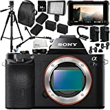 Sony Alpha a7S Mirrorless Digital Camera with Atomos Ninja Inferno 7 4K HDMI Recording Monitor 15PC Accessory Bundle – Includes Deluxe Backpack + MORE