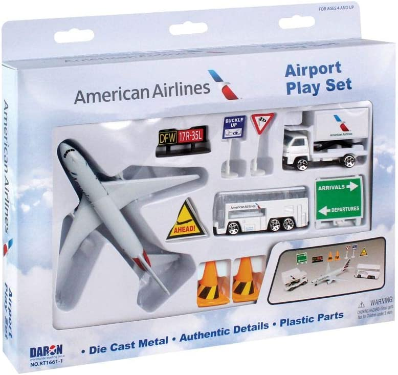 Daron RT1661-1 American Airlines10pc Playset
