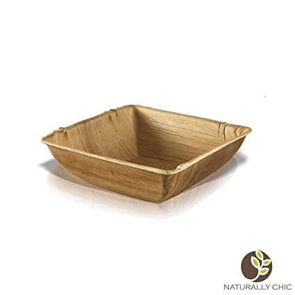 Cuencos de papel desechables Eco Palma: biodegradables compostables Heavy Duty pequeño sopa ensalada aperitivos para