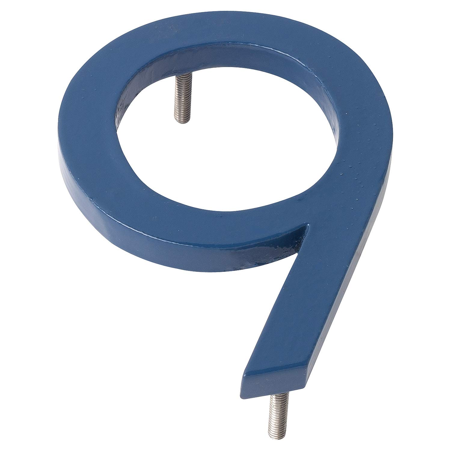 Montague Metal Products MHN-08-9-F-SB1 Floating House Number, 8'' x 5.81'' x 0.375'' Sea Blue