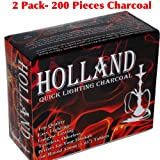 2 – Box of 100pcs Disk Coal Holland Easy Quick Lighting Charcoal for Hookah -33mm TOTAL 200pcs