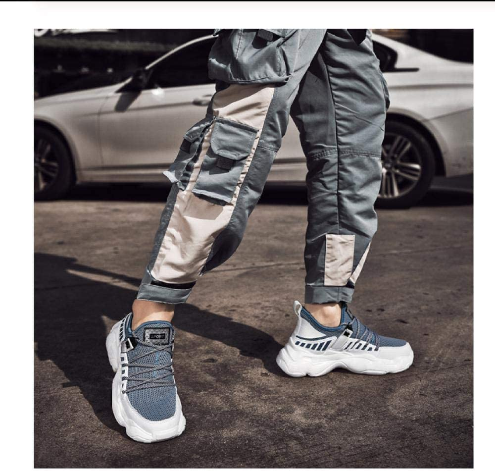 WAXFAS New Men's Spring Shoes Coconut Sneakers Fashion Casual Breathable Flying Woven Running Shoes 40