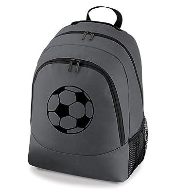 e30228fb35c iClobber Football Rucksack Backpack Boys Girls School Kit Bag Ball - Grey