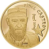 FIDEL CASTRO 24K GOLD PROOF COIN - 1/2 Gram 14mm - 2017 Mongolia 1000 Togrog - TINY MINTAGE OF ONLY 5000 PIECES - Cuban Revolutionary