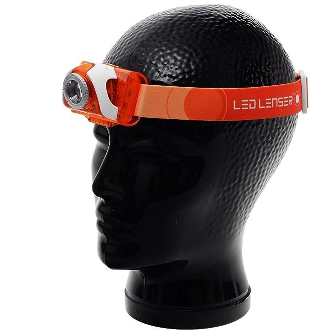 Box,Stirnlampe 6004 LED Lenser SEO 3 orange