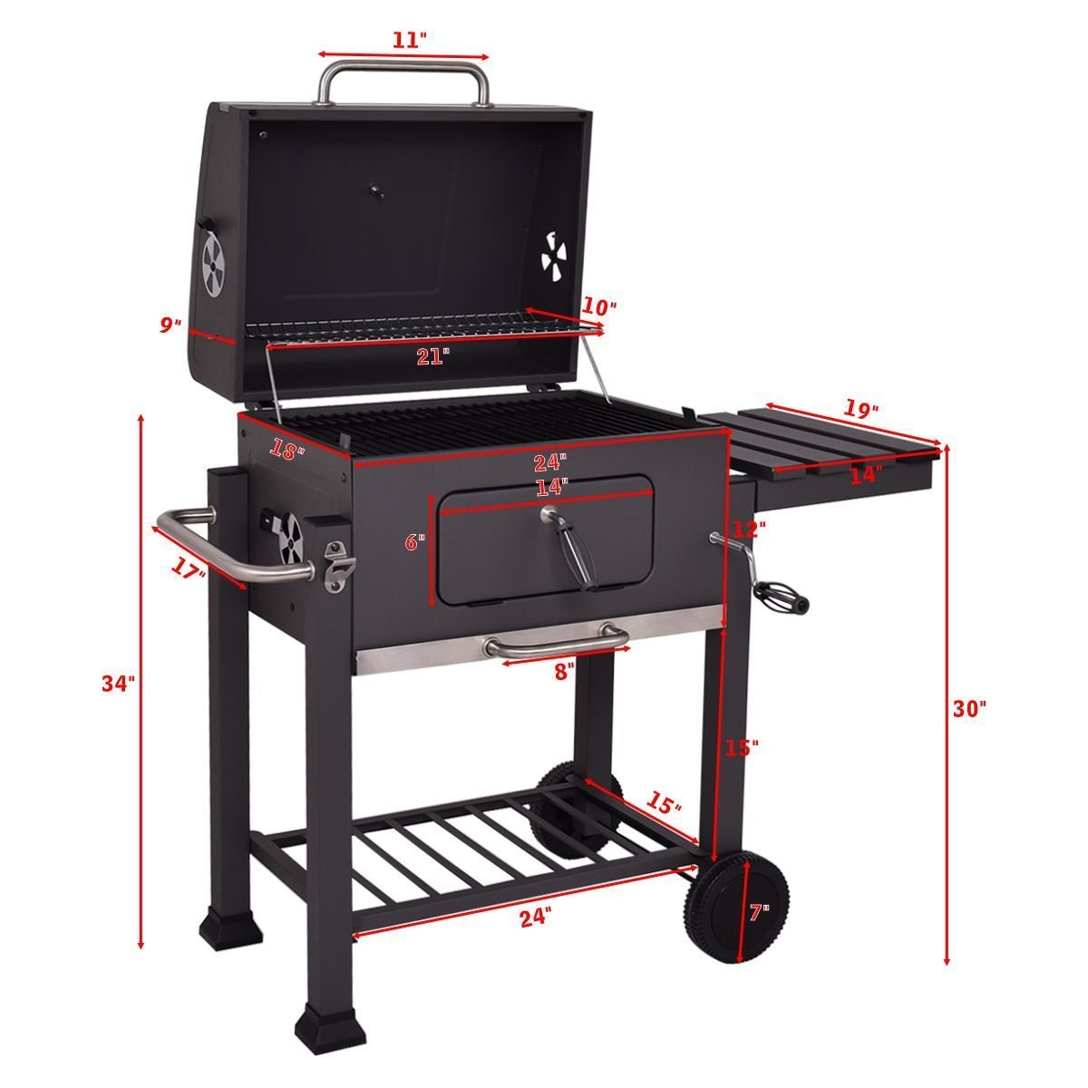 amazon com giantex charcoal grill portable barbecue grill and