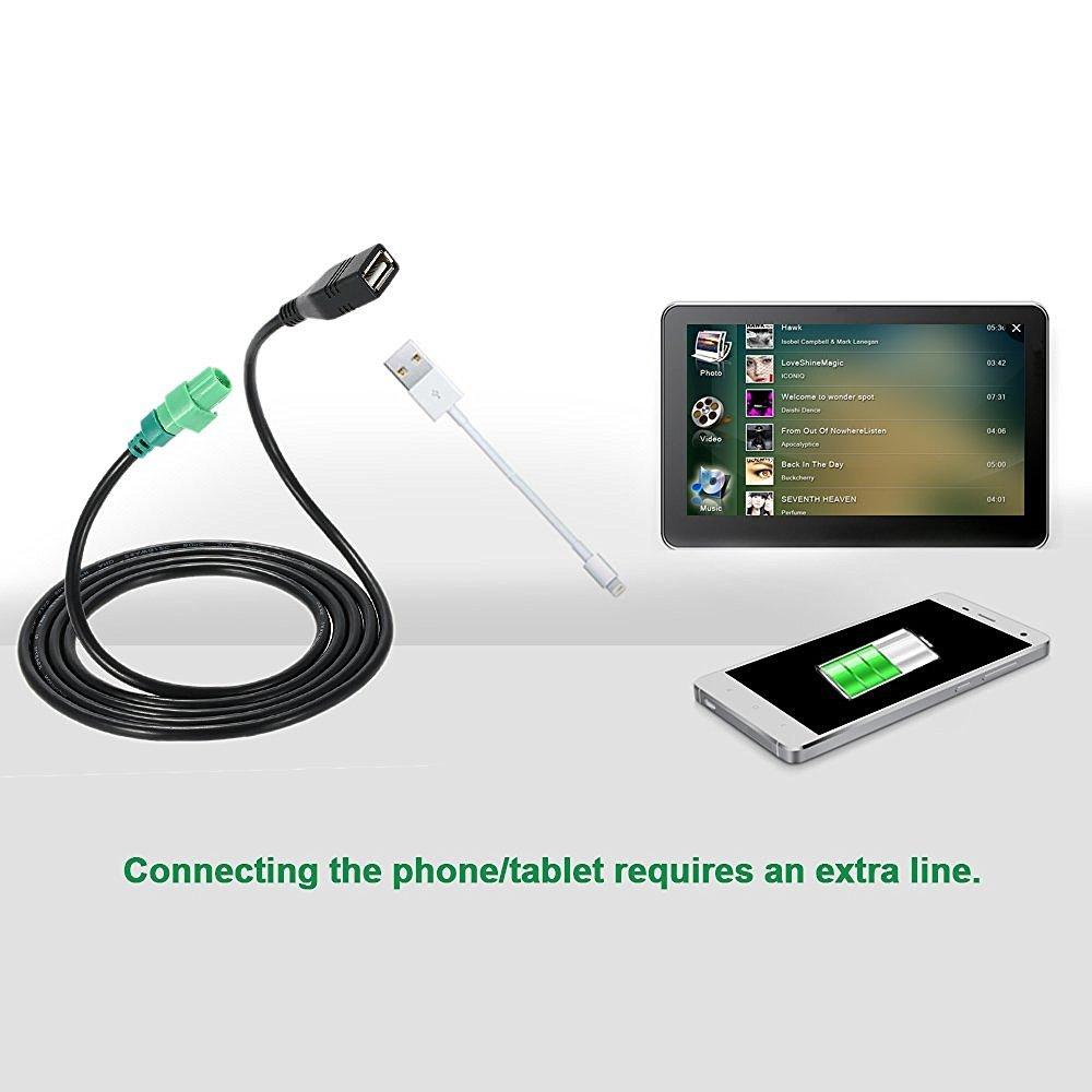 KKmoon USB C/âble dentr/ée Fils Lecteur CD Aux Adaptateur pour BMW 3 5 S/éries E90 E91 E92