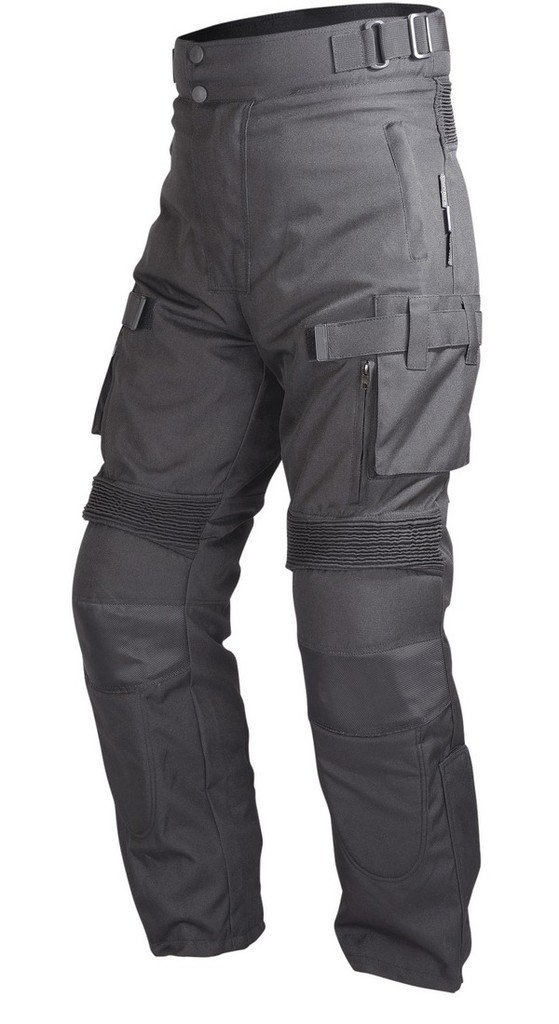 Motorcycle Textile Waterproof Riding Pants Black with Removable CE Armor PT2 (3XL-Tall)