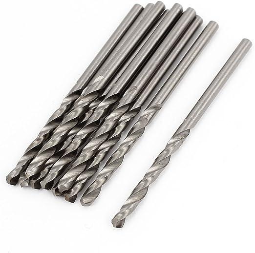 Hardware HSS 2.4mm Dia Split Point 59mm Long Twist Drill Bits 10Pcs