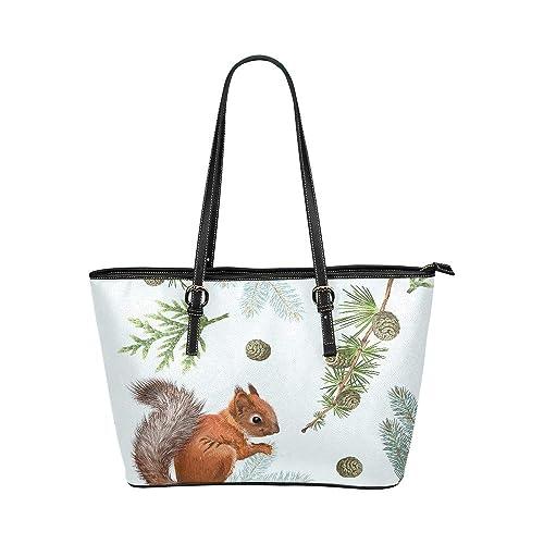 Cartone animato scoiattolo con fiori grande in pelle morbida