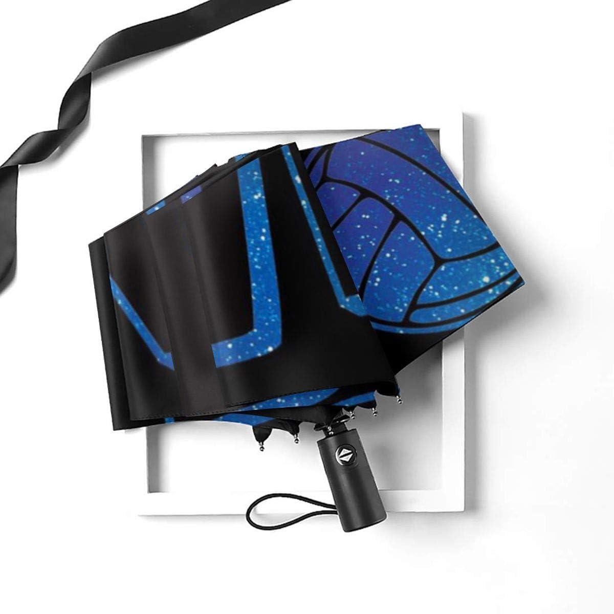 I Love Volleyball Automatic Tri-Fold Umbrella Parasol Sun Umbrella Sunshade