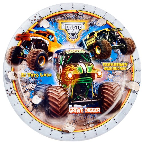 Monster Jam Party Supplies - Dinner Plates (8)