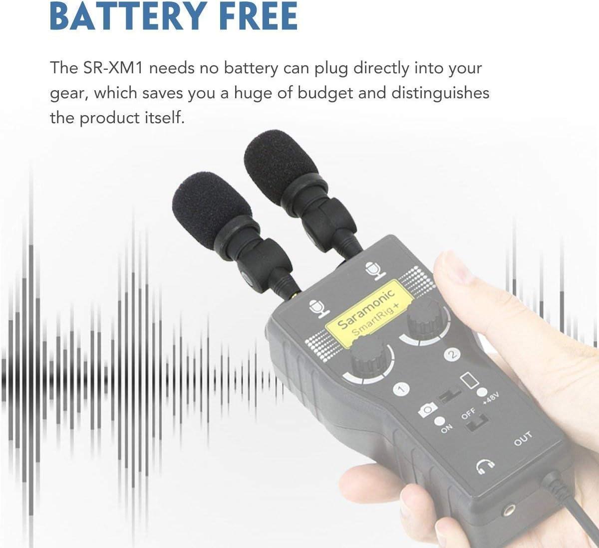 Saramonic Sr Xm1 Mini Microphone 3 5 Mm Camera Photo