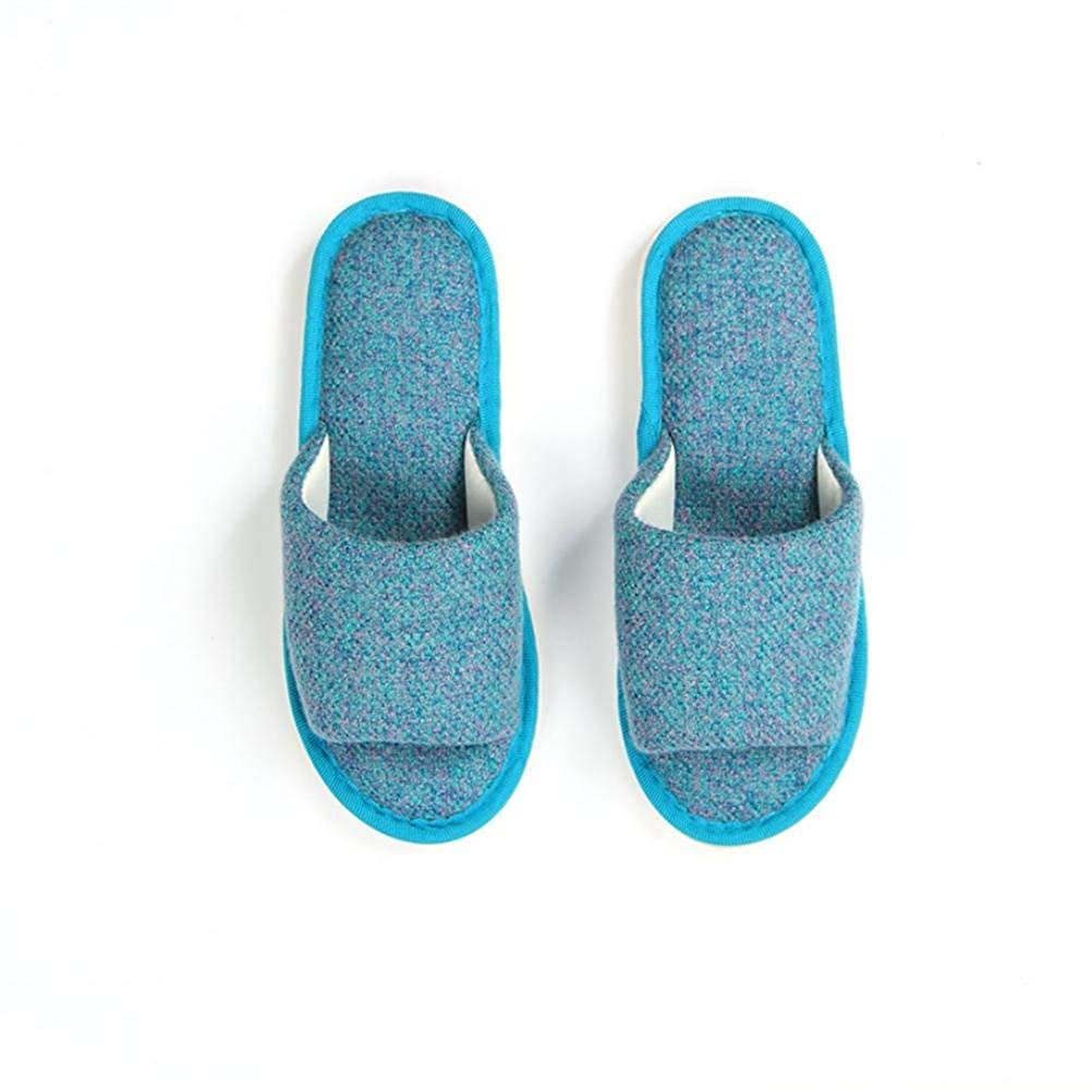 3 JaHGDU Women Home Soft Comfortable Slippers Indoors Leisure Solid color Stylish Casual Simple Style Breathable Wild Cotton Slippers