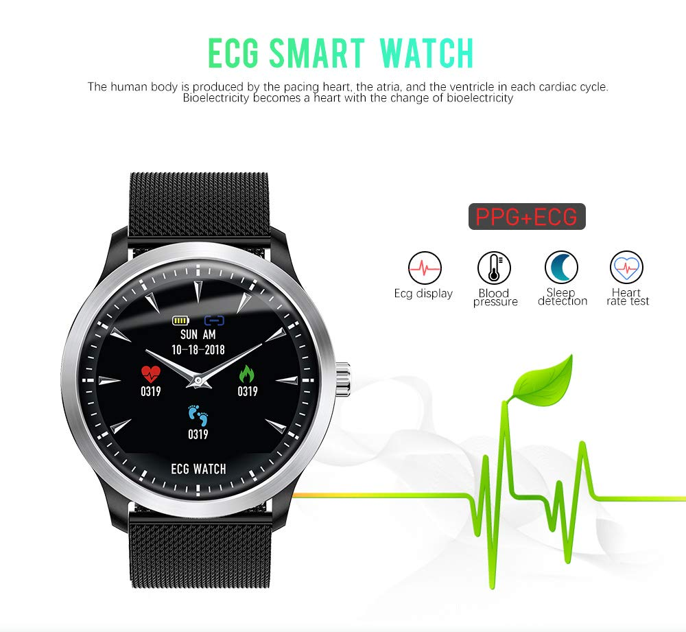 Men's Watches Watches N58 Ecg Ppg Smart Watch With Electrocardiograph Ecg Display Heart Rate Monitor Blood Pressure Mesh Steel Smartwatch Beautiful In Colour