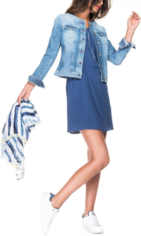 Salsa Veste en Jean avec des détails tricotés Femme