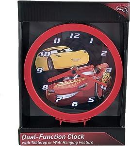 "UPD CRC507 Disney Cars 3 6"" Desk/ Wall Clock in Open Box, Multi"