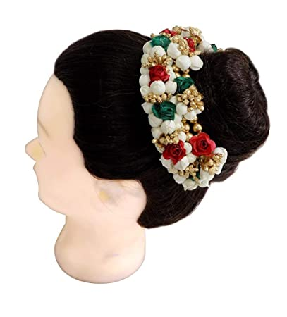 Amazon Com Aasa Hair Gajra Artificial Flower For Women Style In
