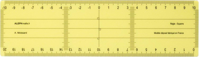 ALEPH Régle Equerre Grand Modèle - 20 cm alpeh