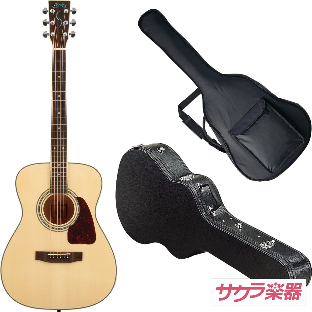 S.Yairi ヤイリ アコースティックギター YF-3M/N サクラ楽器オリジナル ハードケースセット B0091C9OGO N N