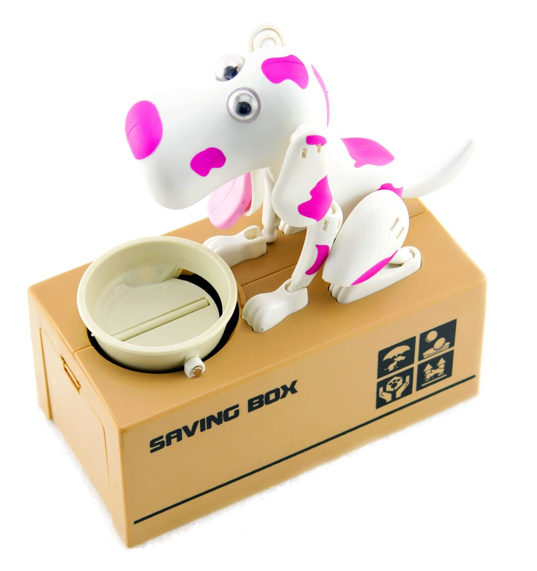 My Dog Piggy Bank - Robotic Coin Munching Toy Money Box - PINK by Bo-Toys