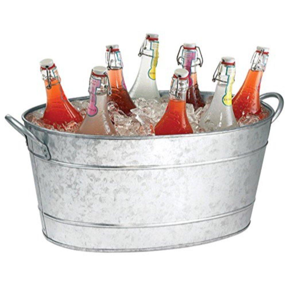 Benzara AMC0001 Beverage Tub with Handles, Gray by Benzara