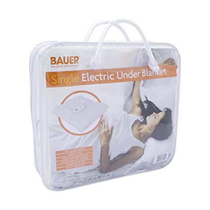 Bauer caliente suave manta bajera eléctrica diseño de amarre, único