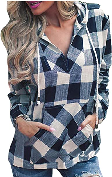 FAMILIZO_Camisetas Mujer Tallas Grandes Verano Originales Blusa Mujer Elegante Manga Largo Cuadros Algodón Otoño Fiesta Camisas Largo T Shirt Women Tops Invierno: Amazon.es: Ropa y accesorios