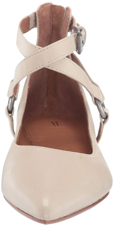 FRYE Womens Sienna Harness Criss Cross Ballet Flat