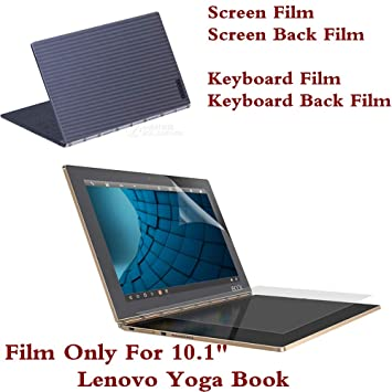 Whole Protective Film for Lenovo Yoga Book 10.1 Inch Tablet PC Screen Film Keyboard Cover Film Back Film.