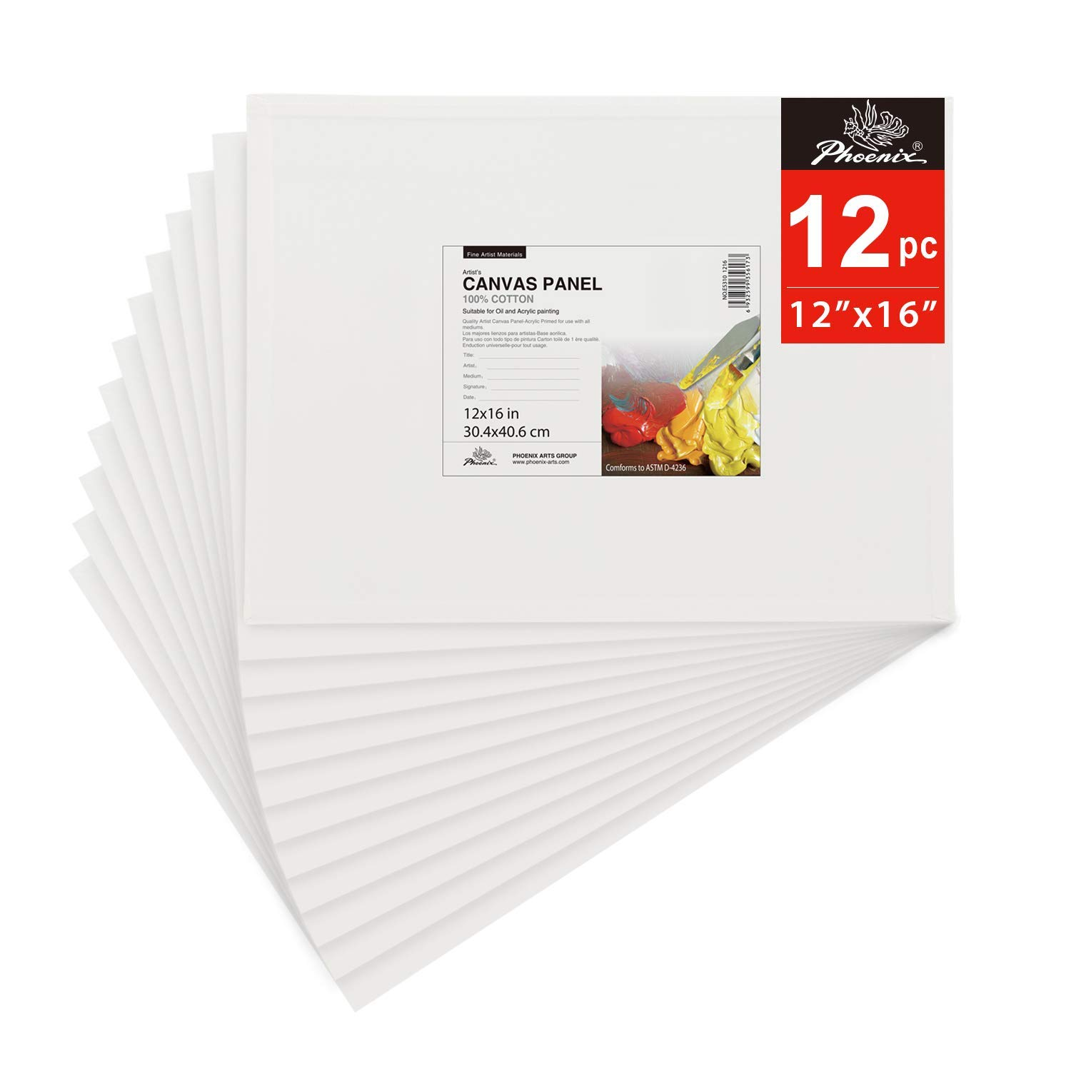 Inexpensive canvas boards bulk pack