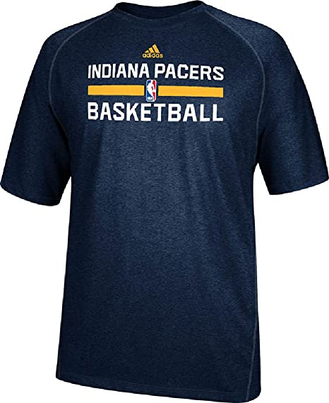 b57c32c8937 Indiana Pacers Navy Heather Climalite Practice Short Sleeve Shirt by Adidas  (Medium)